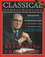 Read Classical Homeschooling magazine online!  All 4 magazines available for reading.  Classical Homeschooling chronicles the revival of the return to the classics, and in particular the Great Books within homeschooling.