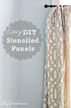 City Farmhouse DIY Stenciled Panels-5 easy steps