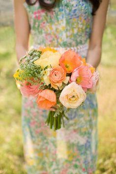 gorgeous colors, by Fleurt bridesmaids, color, bridesmaid dresses, weddings, bouquets, the dress, bouquet wedding, poppi, flower