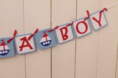 Ahoy its a Boy Baby Shower Banner CUSTOMIZEABLE by DivineDesignsHB, $24.50