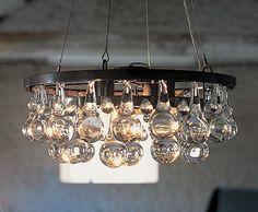 kitchen tables, light fixtures, chandeliers, pear chandeli, glass, bathroom, design, vintage kitchen, arctic pear