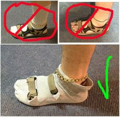 How to wear socks with sandal at right way?