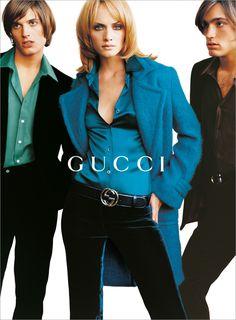 Campaign: Gucci  Season: Fall 1995  Photographer: Mario Testino  Model(s): Amber Valletta