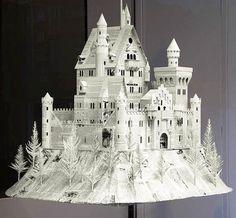 craft, kyle bean, paper castl, window displays, paper art