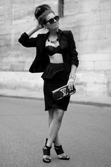 bras and blazers #streetstyle #bra #lingerie