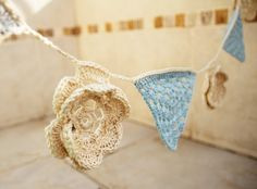 Crochet garland