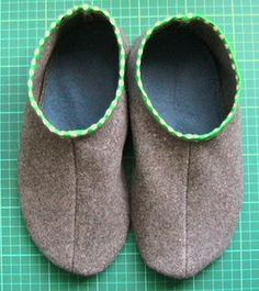 Recycled Slipper Tutorial by sewgreen: A good reuse for old blankets. #DIY #Slippers #Sewing