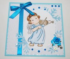 Tilda with violin, Merry little Christmas collection, Magnolia stamps