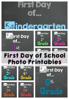 First Day of School Photo Printables - My Sweet Sanity #backtoschool