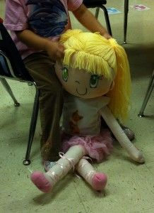 My friend huggles: Lily