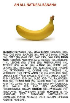 "Graphic designer and chemistry teacher James Kennedy warns against what he calls ""chemophobia""--the fear of harmless if not beneficial chemicals. A lot of the ingredients in completely natural, healthy foods sound frightening."