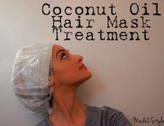 oil mask, coconuts, makeup, hair beauty, naturally curly hair, hair masks, hair treatments, beauti, coconut oil hair mask
