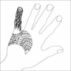 Hand zentangle great for sub plans.