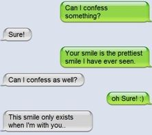 Where'd you get that from? awww, text, real life, sweet, messag, ador, smile, quot, thing
