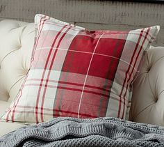 potteri barn, accent pillows, christma decor, lassen plaid, pillow covers, throw pillows, holiday decor, pottery barn, plaid pillow
