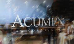 Brand & Logo design for Vancouver criminal law firm.    Read more: http://solocube.com/portfolio/logo-design-for-acumen-law-corporation/#ixzz2I4Y5AiiW