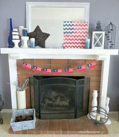 4th of July Decor for a Mantel