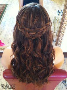 braid half up