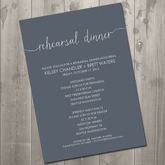 Scribble Handwriting Rehearsal Dinner Invitation - DIY Printable Invitation