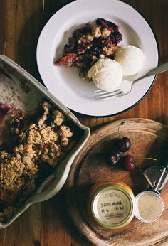 Cherry & Apricot Crumble