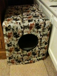 DIY Litter Box cover obviously I would use a different fabric
