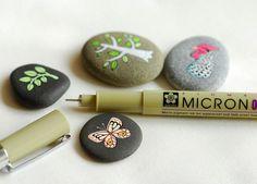 Stones ...  Micron pens