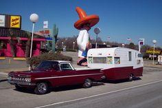 1960 Shasta with a 1959 Chevrolet El Camino