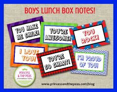 Printable Lunch Box Notes | Affordable Kids Birthday Party Ideas | Personalized Invitations | Easy Kids Parties | Kids Party Planning | Party Printables | Kids Parties On A Budget | Your Specialty Kids Party Blog