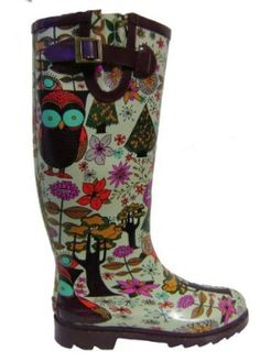 Amazon.com: Chooka - Women's Gypsy Owl Rain Boots: Shoes
