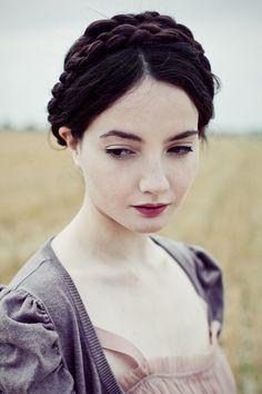 snow hair, snowwhite, braid hair, maiden braids, snow white