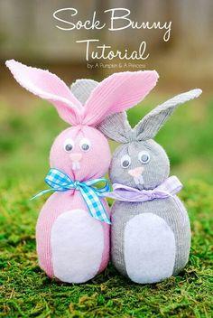 Cute sock Bunnies.....