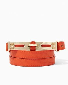 Polished Buckle Skinny Belt | #COTM Harvest Pumpkin | #charmingcharlie