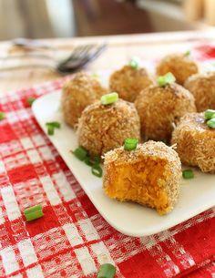 Sweet Potato Goat Cheese Puffs