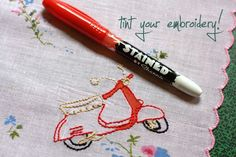 #DIY - #Embroidery Tinting with Sharpie Stained Markers