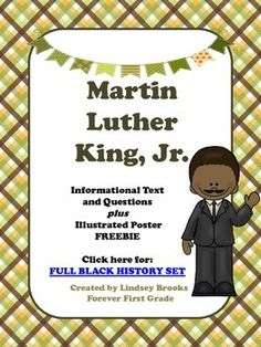 Martin Luther King, Jr. Informational Text and Poster FREEBIE