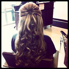 Wedding hair -bride