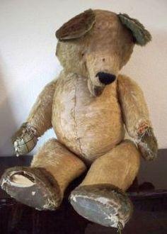 teddi bear, worn, teddy bears, tatter teddi, vintag bear