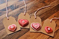 tag valentin, paper gifts, button, kraft paper, gift tags