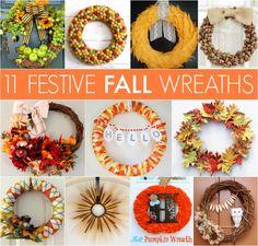 11 Fall Wreaths via @goodhousemag | Make your own festive fall wreath!