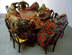 Victorian style clothing with African patterns. Steampunk Fashion - Yinka Shonibare