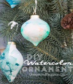 DIY Watercolor Ornam