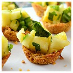 Ancient Grain Coconut Cups with Pineapple Salsa #WhattheHack