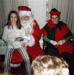 Victoria and Larry, Jr. with Santa.
