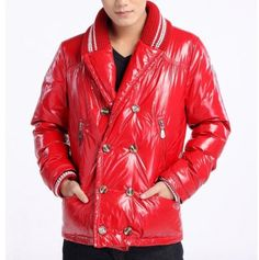 Buy Red Moncler Emilien Down Jacket for Men $245.99