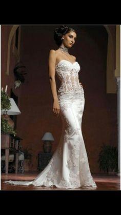 Wedding 2015 16 on pinterest corset wedding dresses for See through corset wedding dresses