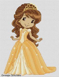 Как можно вышить принцессу, фею крестиком? Где найти простые схемы?
