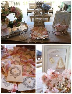 Linen, Lace, & Love: Shabby Chic Crown Bridal Shower #shower #bridalshower #bridal #crown #shabbychic #shabby
