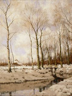 Arnold Gorter (Dutch, 1866-1933). Landscape with Snow, n.d. Charles and Emma Frye Collection, 1952.057