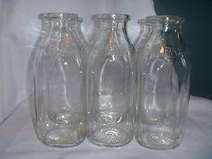 Set of 6 Vintage Clear Glass Quart Milk Jugs Bottles Universal Dairy Jackson MI | eBay