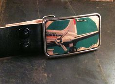 retro airplan, airplanes, plane buckl, belt buckles, airplan belt, leather belts
